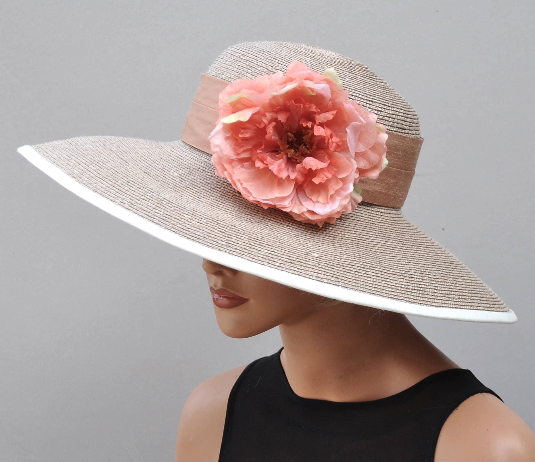 f4839901 Wide Brim Straw Hat, Wedding Hat. Formal Hat, Kentucky Derby Hat ...