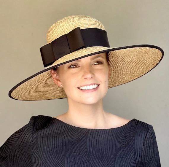 Kentucky Derby Hat, Wedding Hat, Women's Formal Hat, Ladies Wide Brim Hat, Ascot Hat, Special Occasion Hat,