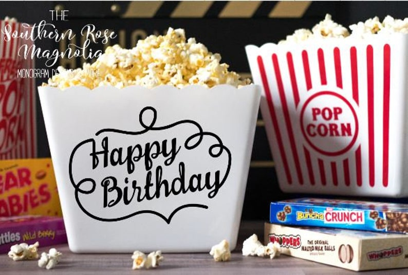 Happy Birthday Gift Basket Popcorn Gift Baskets Happy