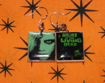 Zombie Earrings, Night of the Living Dead Jewelry, Zombie Jewelry Sterling Silver Zombie Apocalypse, Halloween Earring, Walking Dead Jewelry