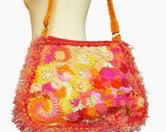 Designer Chiffonnelle original freeform crocheted bag spring summer collection