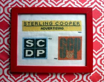 Mad Men cross stitch pattern Sterling Cooper logo