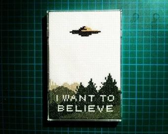 X Files I Want To Believe cross stitch pattern