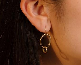 MARINA Drop Earrings // Handmade Linked Dangle Earrings in Brass, Sterling Silver or 10k Gold