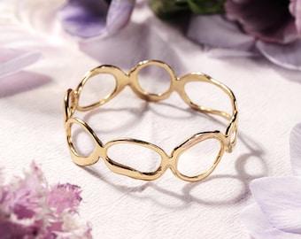 ISLE Bangle // Handmade Bangle Bracelet in Brass, Sterling Silver or 10k Gold