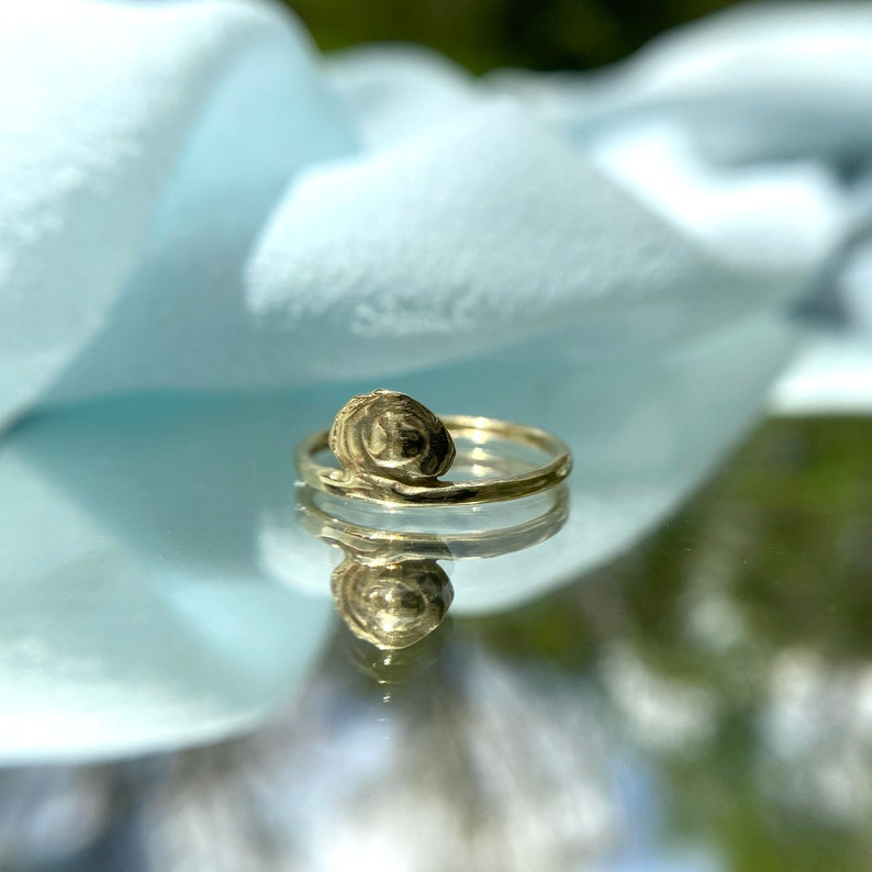 ORACLE Ring  Handmade Cast Stackable Ring in Brass Sterling Silver or 10k Gold