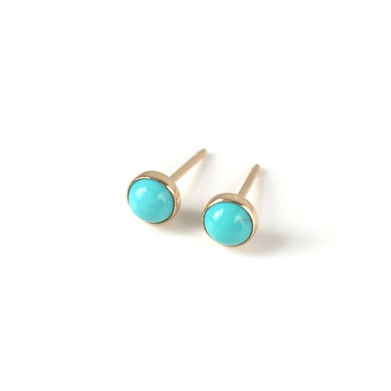 Tiny talismans turquoise earrings