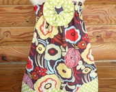ONLY TWO LEFT....Sweet Mocca Halter Dress......... Baby............Toddler............Girls...........YOU CHOOSE SIZE