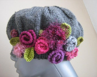 Knitting beret - Lilly