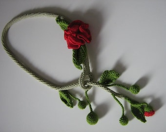 CROCHET NECKLACE - 2 ROSES