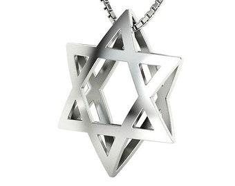 Silver Bold Star of David Pendant Star of David Necklace