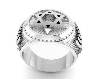 925 Silver  Star of David Ring ,Menorah  Ring ,Men Ring,Gift for Men ,jewish Ring