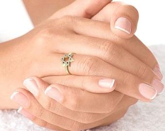 14k Gold Star of David Set with Lab Diamonds ,Star of David Women Ring,Gift For Women