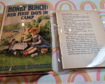 Art Journal, Altered Vintage Book Art Journal, Honey Bunch, Her First Days in Camp, copyright 1925