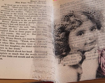 Art Journal, Altered Vintage Book Art Journal, Honey Bunch:Her First Visit to the City, Copyright 1923