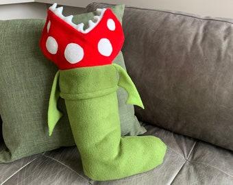 Mario inspired Piranha Plant Christmas Stocking