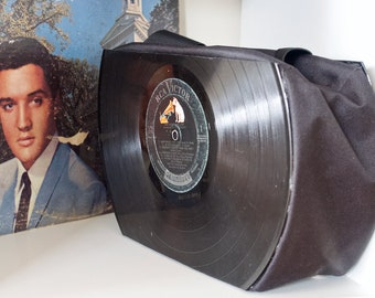 ELVIS PRESLEY Record Purse made from vintage vinyl records SALE