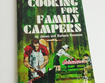 Vintage Camping Cookbook Glamping Open Fire or Camp Stove Cooking Recipes Book