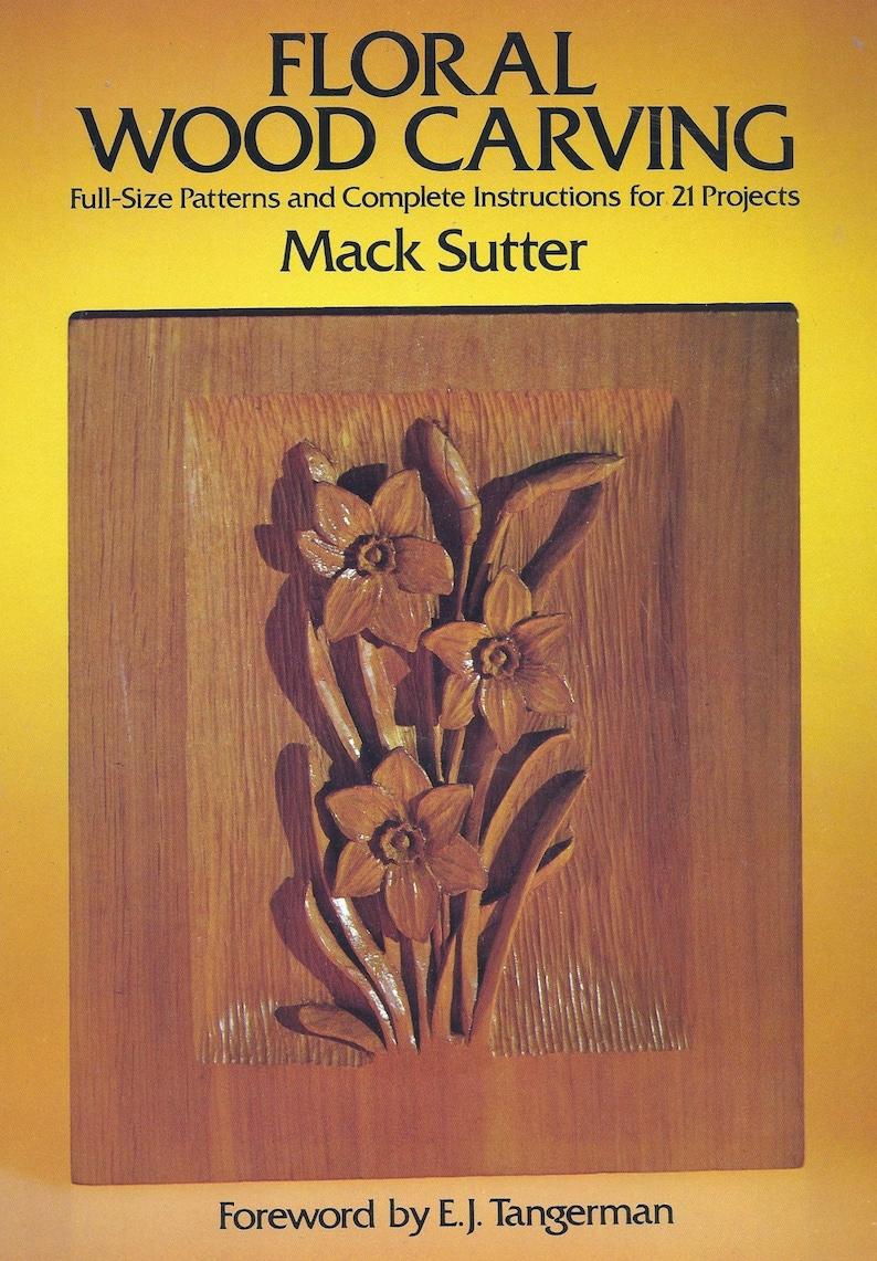 Vintage wood carving pattern book full size patterns floral etsy