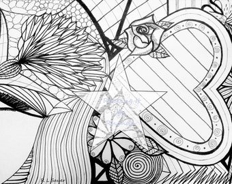 Love is in the Air Colouring Page