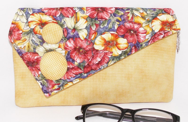 Handmade clutch green yellow shoulder bag red Sunshine Garden Lella/'s Bag by Lella Rae on Etsy Orange Cotton