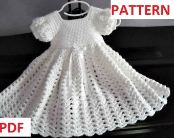 Christening Gown Crochet Pattern Etsy