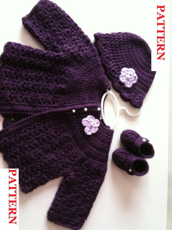 Los Angeles 26da8 1d73f Free Crochet Newborn Sweater Sets Crochet