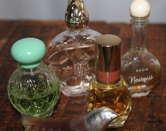 Vintage Glass Avon Perfume Bottles