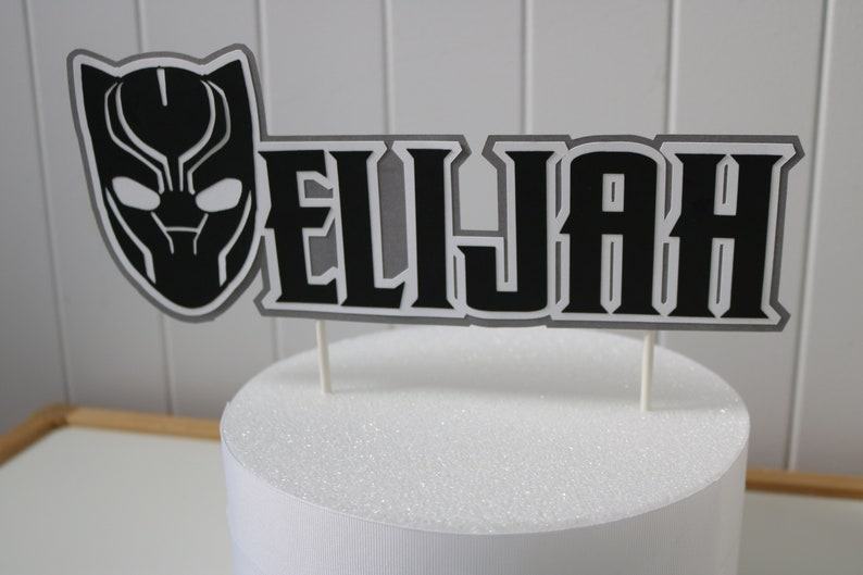 Black Panther Inspired Cake Topper