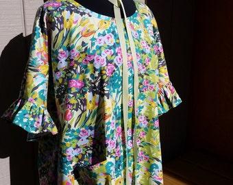 Custom Created Labor of Love Maternity - Hospital Gown - Flirty Ruffled Sleeve, Free Shipping