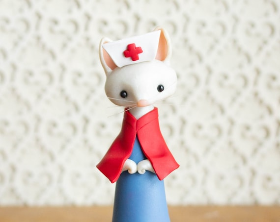 Cat Nurse Figurine by Bonjour Poupette