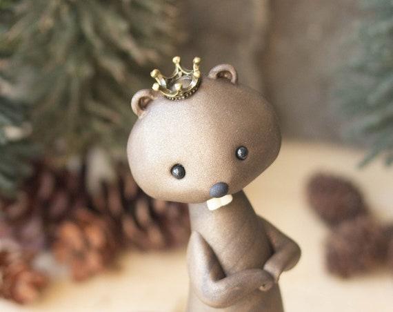 Beaver King - Handmade Beaver Sculpture