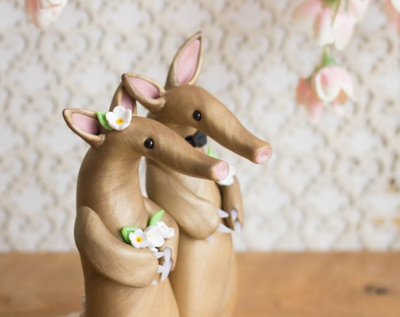 Aardvark Wedding Cake Toppe