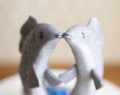 Pisces Wedding Cake Topper - Fish Cake Topper - Fish Sculpture