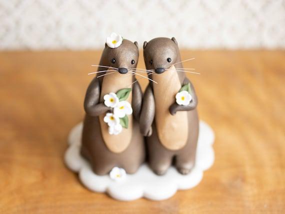 Otter Wedding - River Otter Cake Topper