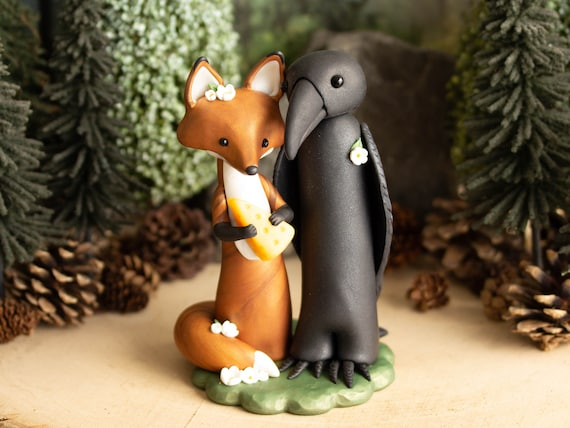 The Fox and The Crow Sculpture