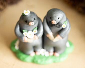Garden Mole Wedding Cake Topper