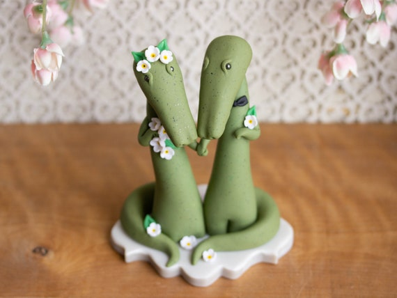 Alligator Wedding Cake Topper