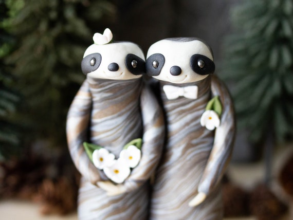 Sloth Wedding Cake Topper