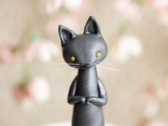 Gray Cat Lady - Cat Figurine by Bonjour Poupette