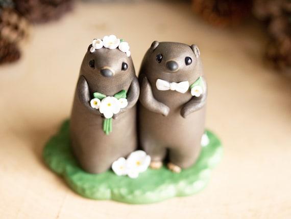 Groundhog Wedding Cake Topper - Groundhog Day Gift