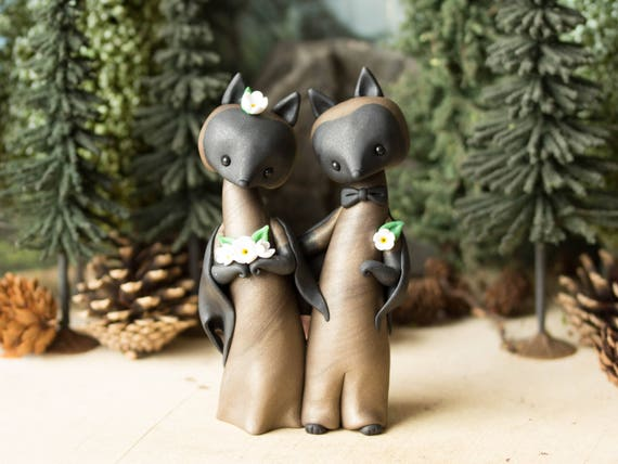 Bat Wedding Cake Topper - Flying Fox Bats