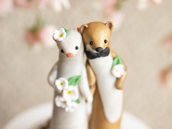Weasel Wedding Cake Topper by Bonjour Poupette