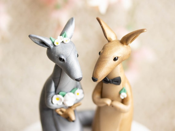 Kangaroo Wedding Cake Topper
