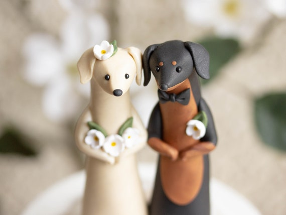 Dachshund Wedding Cake Topper