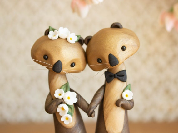 Sea Otter Wedding Cake Topper