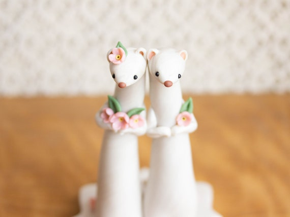Weasel Wedding - Ermine Wedding Cake Topper