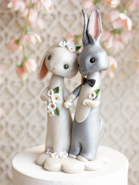 Bunny Rabbit Wedding Cake Topper