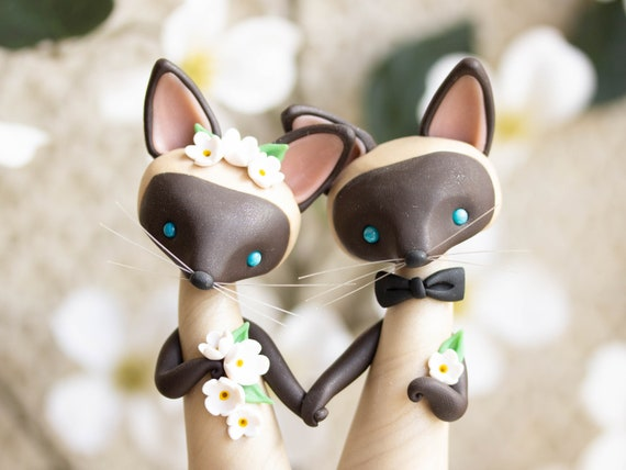 Siamese Cat Wedding Cake Topper