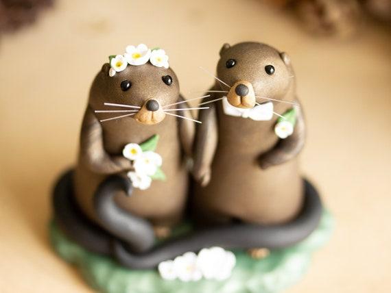 Muskrat Love - Muskrat Wedding Cake Topper
